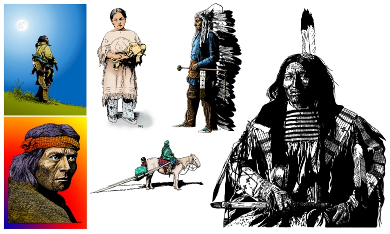 Native American Illustrations